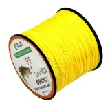 6.0# 0.40mm 60LB 27.2kg Tension 500m Extra Strong 4 Shares Braid PE Fishing Line Kite Line (Yellow)