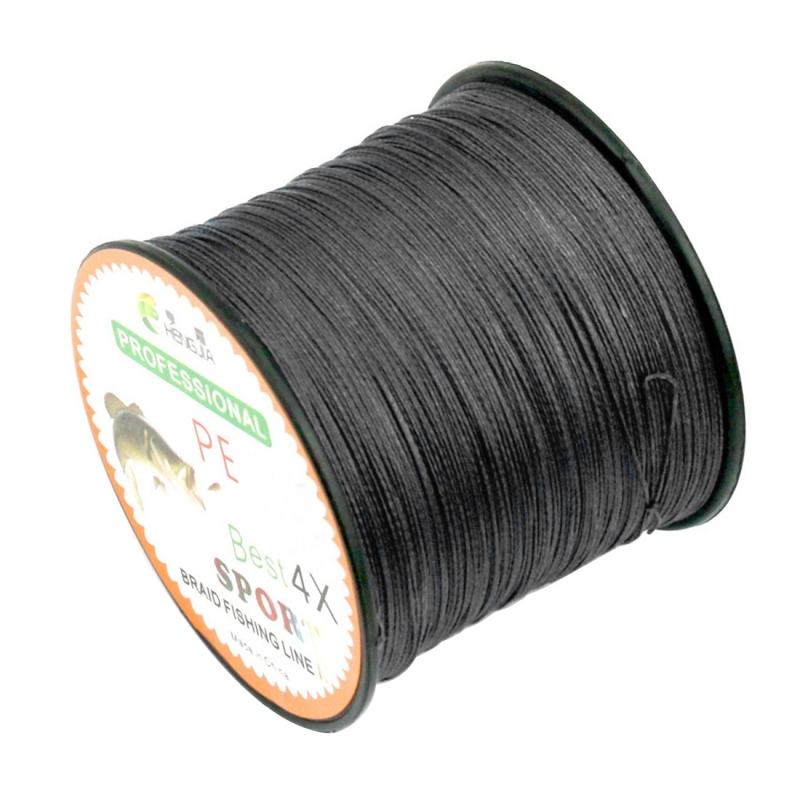 4 0 45lb tension 500m extra strong 4 shares for Black braided fishing line
