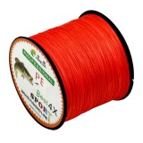 4.0# 0.34mm 45LB 18.1kg Tension 500m Extra Strong 4 Shares Braid PE Fishing Line Kite Line (Red)