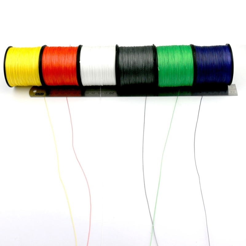 1.5# 0.20mm 22LB 9kg Tension 500m Extra Strong 4 Shares Braid PE Fishing Line Kite Line (White)