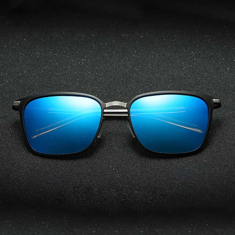 Men Fashion UV400 Square Frame Polarized Sunglasses ...