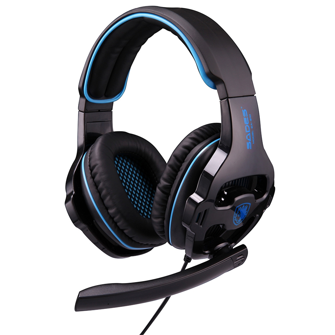 sades sa 810 gaming headset wired headphone with wire control mic for pc laptop black. Black Bedroom Furniture Sets. Home Design Ideas