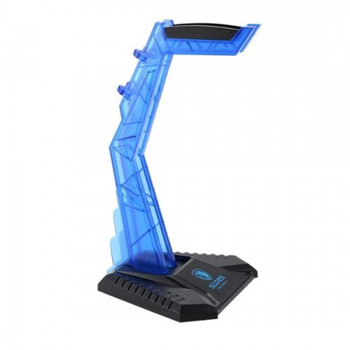 SADES Universal Multi-function Gaming Headphone Hanger Desk Headset Stand Holder Display Rack (Blue)