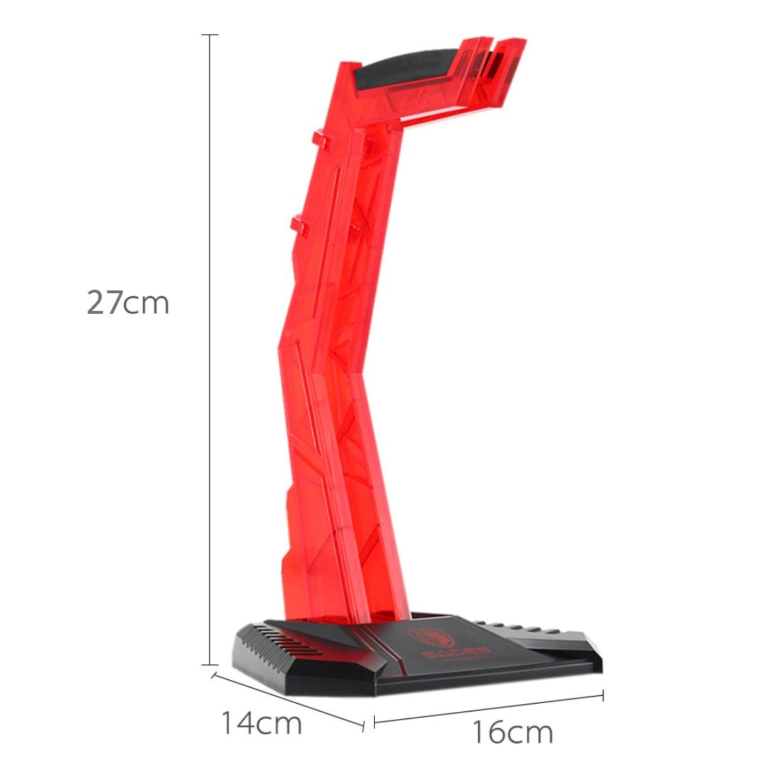 SADES Universal Multi-function Gaming Headphone Hanger Desk Headset Stand Holder Display Rack (Red)