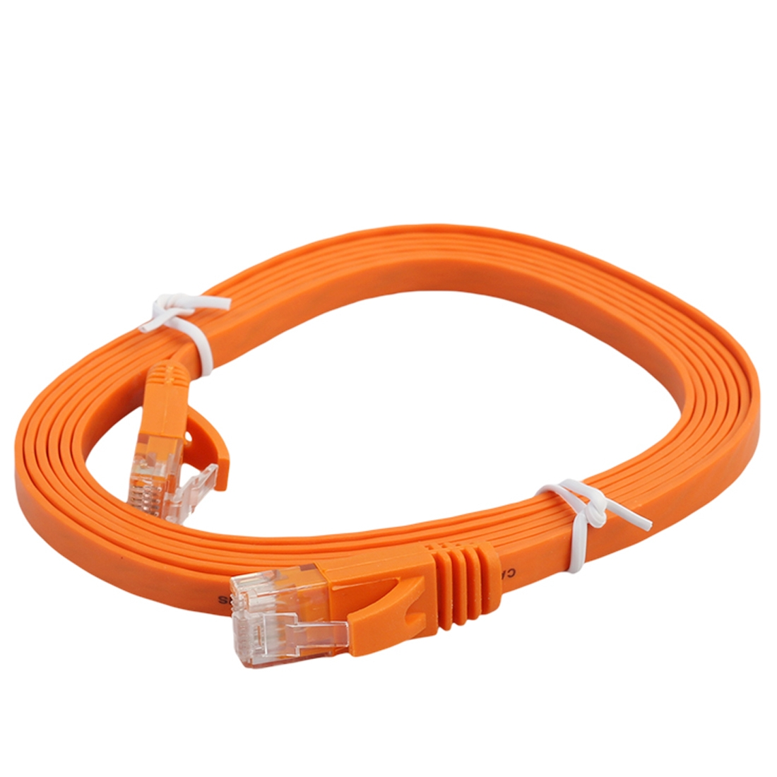 Electronic Tools 3m CAT6 Ultra-Thin Flat Ethernet Network LAN Cable Patch Lead RJ45 Color : Orange Black