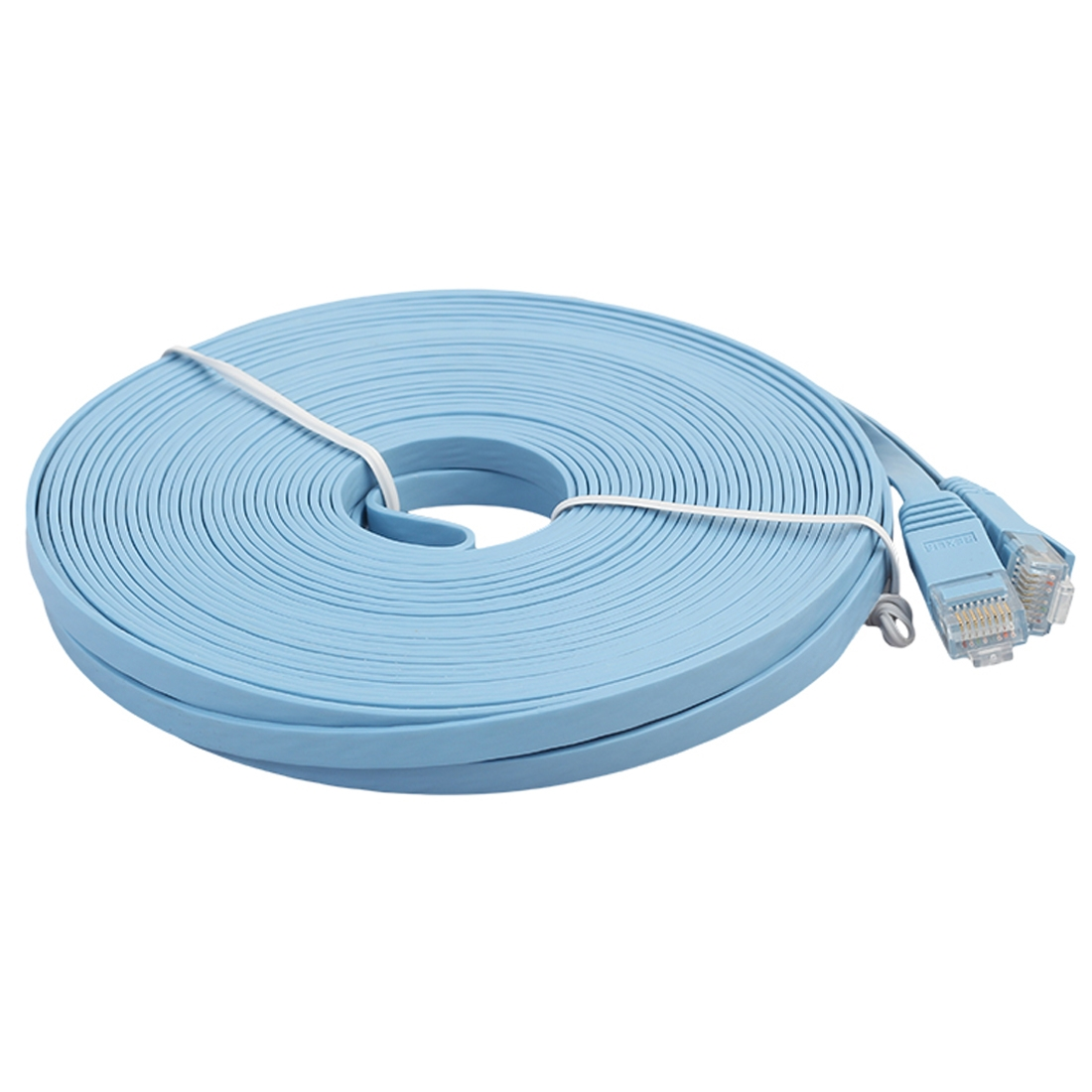 10m cat6 ultra thin flat ethernet network lan cable patch lead rj45 blue. Black Bedroom Furniture Sets. Home Design Ideas