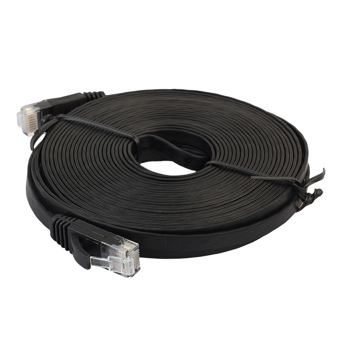 15m cat6 ultra thin flat ethernet network lan cable patch. Black Bedroom Furniture Sets. Home Design Ideas