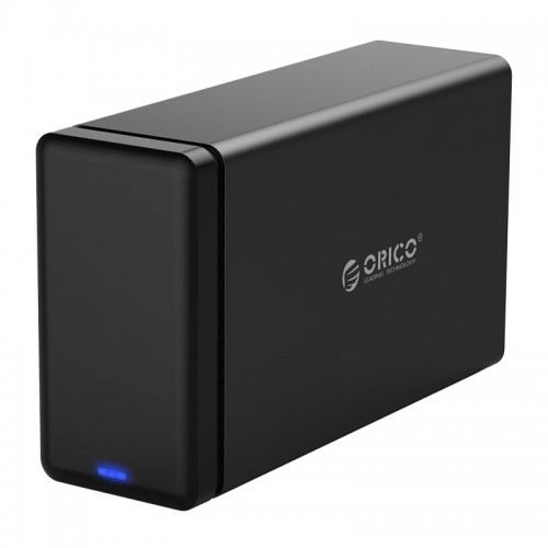 ORICO NS200-RU3 2-bay USB 3.0 Type-B to SATA External Hard Disk Box Storage Case Hard Drive Dock with Raid for 3.5 inch SATA HDD, Support UASP Protocol