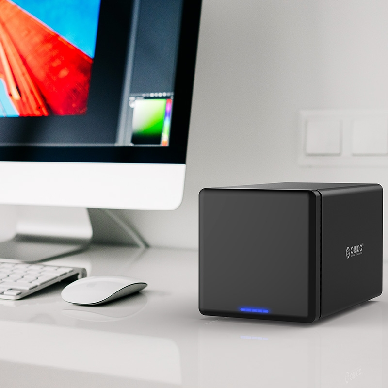 ORICO NS400-C3 4-bay USB-C / Type-C 3.1 to SATA External Hard Disk Box Storage Case Hard Drive Dock for 3.5 inch SATA HDD, Support UASP Protocol