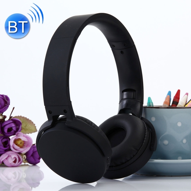 MDR-XB650BT Headband Folding Stereo Wireless Bluetooth Headphone Headset, Built-in Bluetooth Wireless Transmission, Support 3.5mm Audio Input & Hands-free Call & & TF Card & FM Function for iPhone, iPad, iPod, Samsung, HTC, Xiaomi and other Audio Devices (Black)