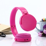 MDR-XB650BT Headband Folding Stereo Wireless Bluetooth Headphone Headset, Built-in Bluetooth Wireless Transmission, Support 3.5mm Audio Input & Hands-free Call & & TF Card & FM Function for iPhone, iPad, iPod, Samsung, HTC, Xiaomi and other Audio Devices (Magenta)