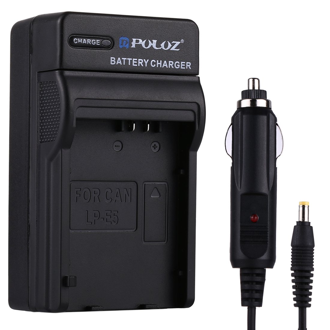 PULUZ 2 in 1 Digital Camera Battery Car Charger for Canon LP-E5 Battery