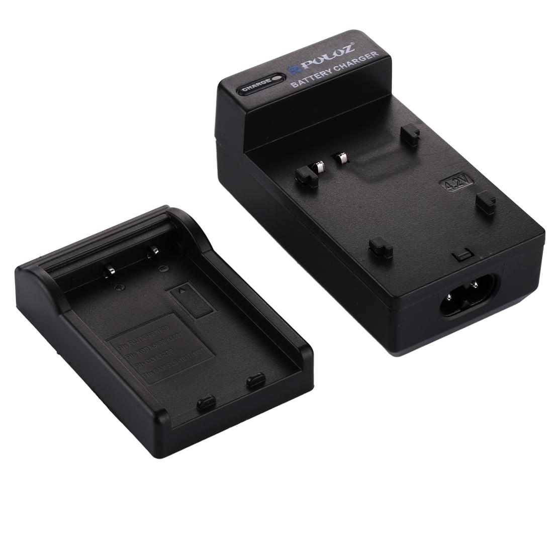 PULUZ 2 in 1 Digital Camera Battery Car Charger for Fujifilm NP-60 / NP-30, Kodak K5000 / K5001, Olympus LI-20B, Samsung SLB-1037 / 1137 Battery