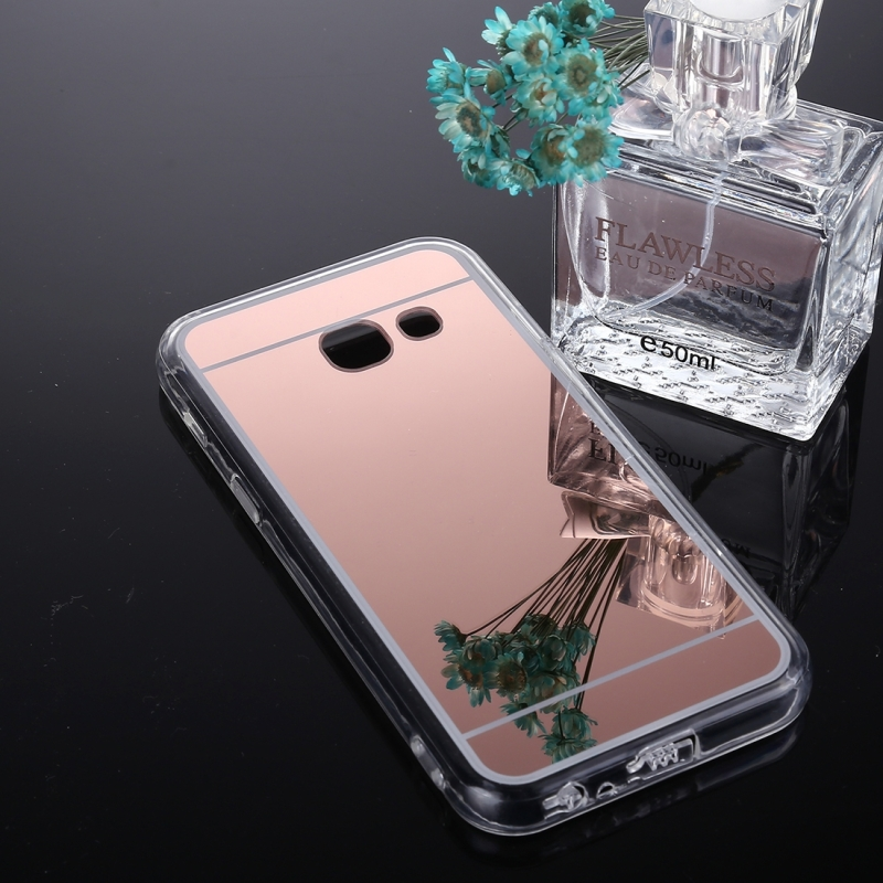 wholesale dealer cd649 ce647 For Samsung Galaxy J7 Prime Acrylic + TPU Electroplating Mirror Protective  Back Cover Case (Rose Gold)