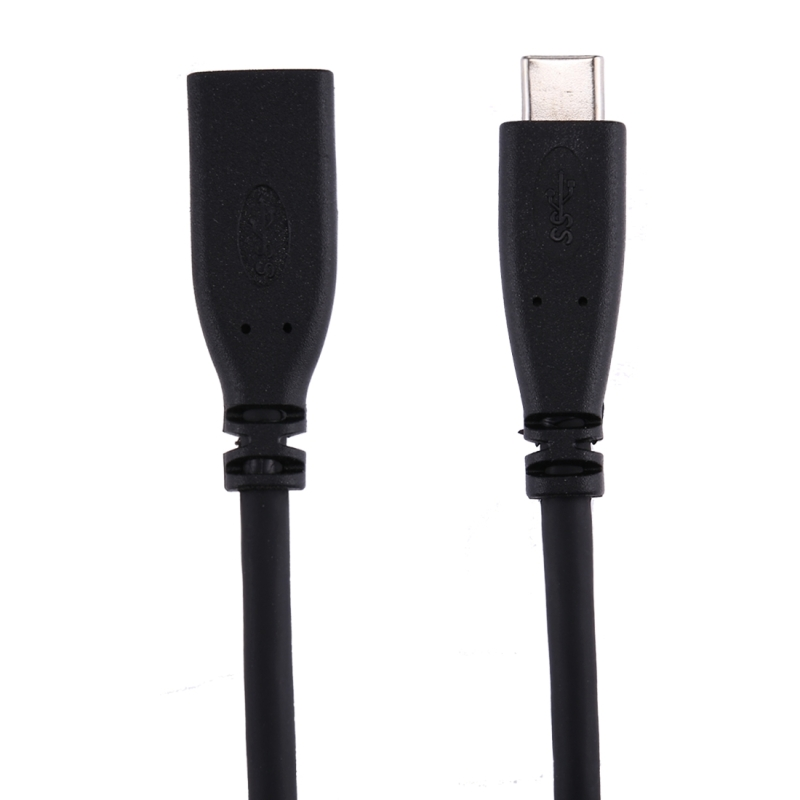 1m USB-C / Type-C 3.1 Male to USB-C / Type-C Female Connector Adapter Cable for Samsung Galaxy S8 & S8+ / LG G6 / Huawei P10 & P10 Plus / Oneplus 5 / Xiaomi Mi6 & Max 2  / and other Smartphones (Black)
