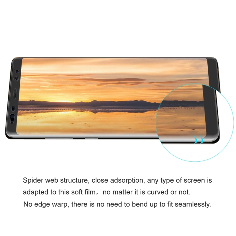 ENKAY Hat-Prince for Samsung Galaxy Note 8 0 1mm TPU+TPE+PET Material 3D  Full Screen Explosion-proof Soft Screen Protector Water Condensate Film