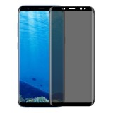 For Samsung Galaxy S8 / G950 0.3mm 9H Surface Hardness 3D Curved Privacy Anti-glare Silk-screen Full Screen Tempered Glass Screen Protector (Black)
