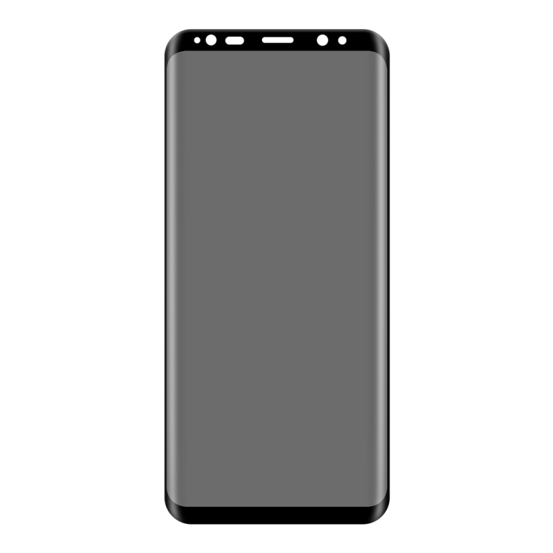 For Samsung Galaxy S8+ / G9550 0.3mm 9H Surface Hardness 3D Curved Privacy Anti-glare Silk-screen Full Screen Tempered Glass Screen Protector (Black)