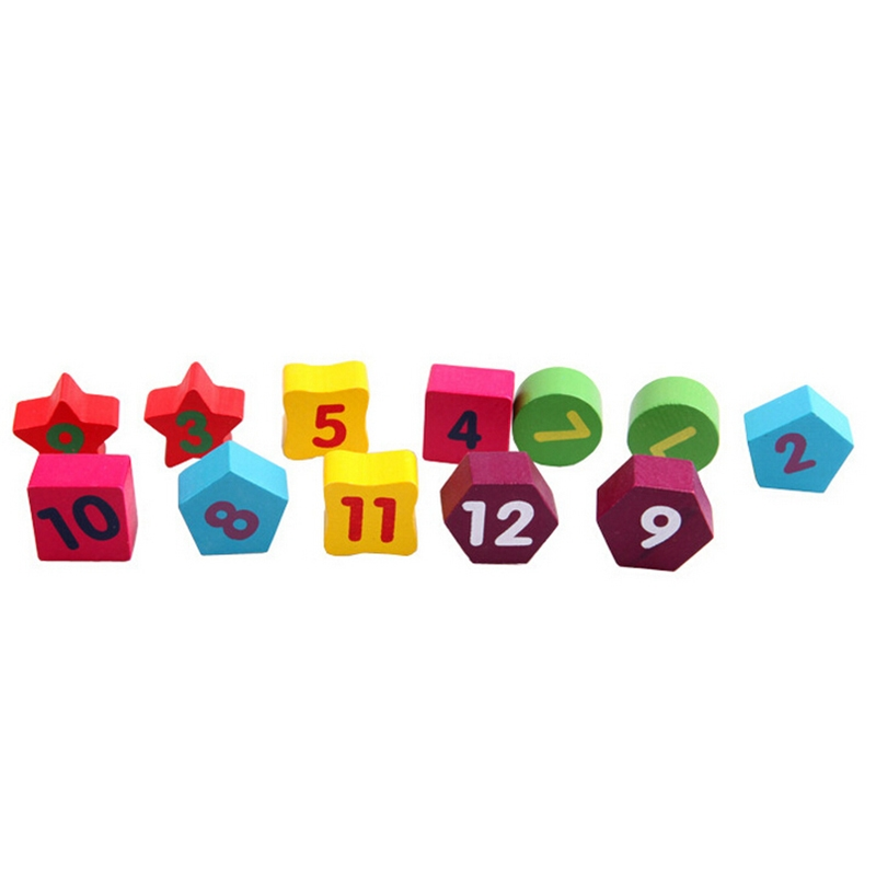 Wooden Number Clock Toy Baby Colorful Puzzle Digital Geometry Clock Educational Toy Baby Kid Education Toy, Random Pointer Delivery
