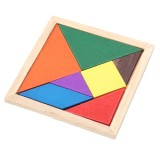 Wooden Three-Dimensional Puzzle Board DIY Kids Baby Educational Wood Toy (Random Color)