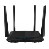 Tenda AC6 AC1200 Smart Dual-Band Wireless Router 5GHz 867Mbps + 2.4GHz 300Mbps WiFi Router with 4*5dBi External Antennas (Black)
