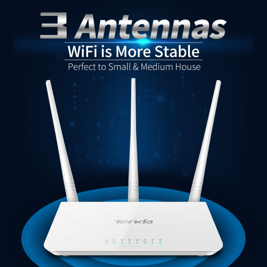 Tenda F3 Wireless 24ghz 300mbps Wifi Router With 35dbi External N301 Wireles 4port 2 Antena Wr0052w 4