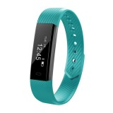 ID115 0.86 inch OLED Display Bluetooth Smart Bracelet, IP67 Waterproof, Support Pedometer / Calls Remind / Sleep Monitor / Sedentary Reminder / Anti-lost / Remote Capture, Compatible with Android and iOS Phones (Green)