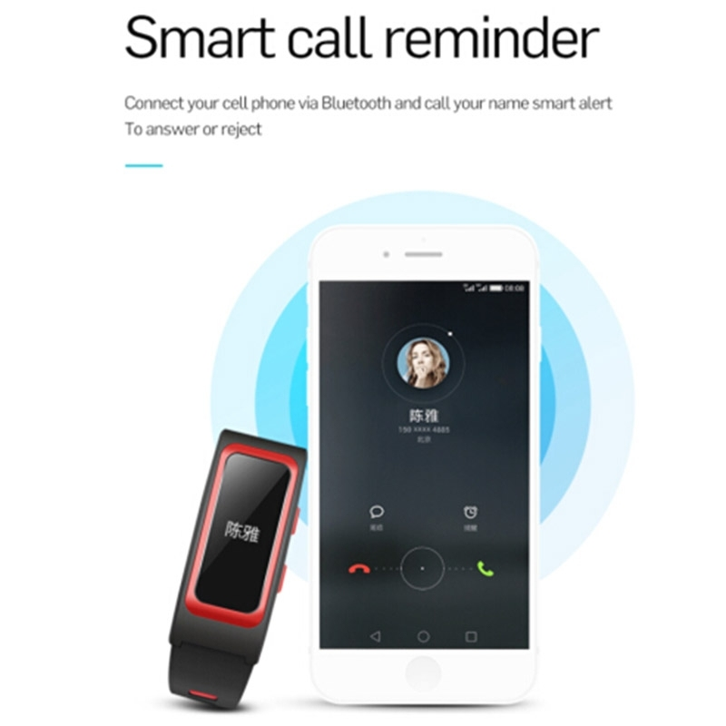 T28 0.96 Inch OLED Touch Screen GPS Track Record Smart Bracelet, IP67 Waterproof, Support Pedometer / Heart Rate Monitor / Blood Pressure Monitor / Notification Remind / Call Reminder / Smart Alarm / Answer Calls / Sedentary remind / Sleep Monitor, Compatible with Android and iOS Phones (Red)