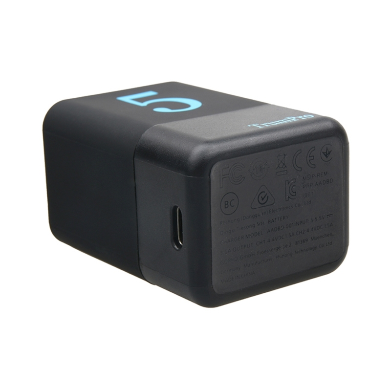 Gopro Hero5 Dual Batteries Charger With Usb C Type C