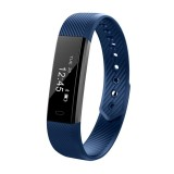 ID115 0.86 inch OLED Display Bluetooth Smart Bracelet, IP67 Waterproof, Support Pedometer / Calls Remind / Sleep Monitor / Sedentary Reminder / Anti-lost / Remote Capture, Compatible with Android and iOS Phones (Dark Blue)
