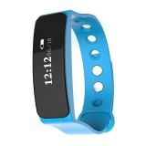 TLW05 0.86 inch OLED Display Bluetooth Smart Bracelet, IP66 Waterproof Support Pedometer / Calls Remind / Sleep Monitor / Sedentary Reminder / Alarm / Remote Capture, Compatible with Android and iOS Phones (Blue)