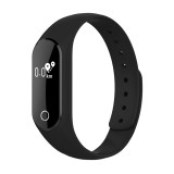 TLW25 0.42 inch OLED Display Bluetooth Smart Bracelet, IP66 Waterproof, Support Heart Rate Monitor / Pedometer / Calls Remind / Sleep Monitor / Sedentary Reminder / Alarm / Remote Capture, Compatible with Android and iOS Phones (Black)