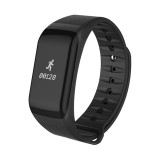 TLWT1 0.66 inch OLED Display Bluetooth Smart Bracelet, IP66 Waterproof, Support Heart Rate Monitor / Blood Pressure & Blood Oxygen Monitor / Pedometer / Calls Remind / Sleep Monitor / Sedentary Reminder / Alarm, Compatible with Android and iOS Phones (Black)