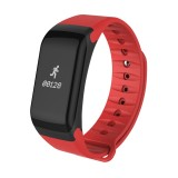 TLWT1 0.66 inch OLED Display Bluetooth Smart Bracelet, IP66 Waterproof, Support Heart Rate Monitor / Blood Pressure & Blood Oxygen Monitor / Pedometer / Calls Remind / Sleep Monitor / Sedentary Reminder / Alarm, Compatible with Android and iOS Phones (Red)