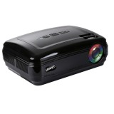 Uhappy U58 3200LM 1080P Home Theater 1280*768 LED Projector with Remote Control, Support HDMI + USB + TV + YPbPr + AV + VGA (Black)