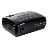 Uhappy U58 Pro 3200LM 1080P Home Theater 1280*768 LED Projector with Remote Control, Support HDMI + USB + TV + YPbPr + AV + VGA, RAM: 1GB, ROM: 8GB (Black)