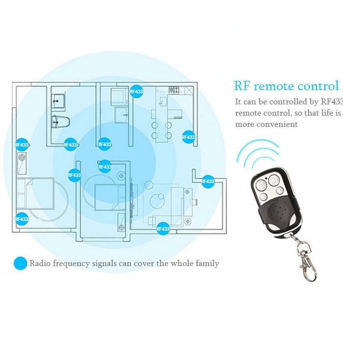 86mm 1 Gang 1 Way Tempered Glass Panel Wall Switch Smart Home Light Touch Switch with RF433 Remote Controller, AC 170V-220V (Gold)