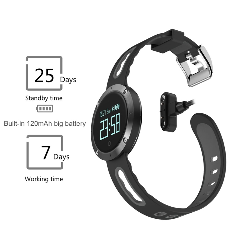 DOMINO DM58 0.95 Inch OLED Large Touch Screen Display Sport Smart Bracelet, IP68 Waterproof and Dustproof, Support Pedometer / Heart Rate Monitor / Blood Pressure Monitor / Notification Remind / Call Reminder / Sedentary Reminder / Sleep Monitor, Compatible with Android and iOS Phones (Yellow)