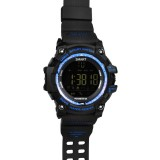 EX16 1.12 Inch FSTN LCD Full Angle Screen Display Sport Smart Watch, IP67 50M Professional Waterproof, Support Pedometer / Stopwatch / Alarm / Notification Remind / Call Notify / Camera Remote Control / Calories Burned, Compatible with Android and iOS Phones (Blue)