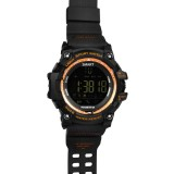 EX16 1.12 Inch FSTN LCD Full Angle Screen Display Sport Smart Watch, IP67 50M Professional Waterproof, Support Pedometer / Stopwatch / Alarm / Notification Remind / Call Notify / Camera Remote Control / Calories Burned, Compatible with Android and iOS Phones (Gold)