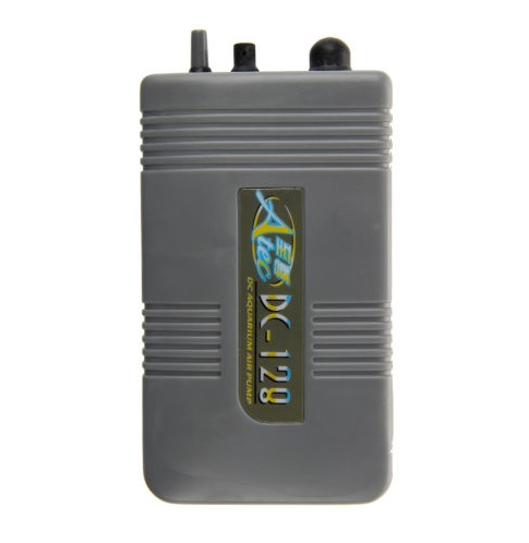 Portable Battery Operated Fish Tank Aquarium Air Pump Grey
