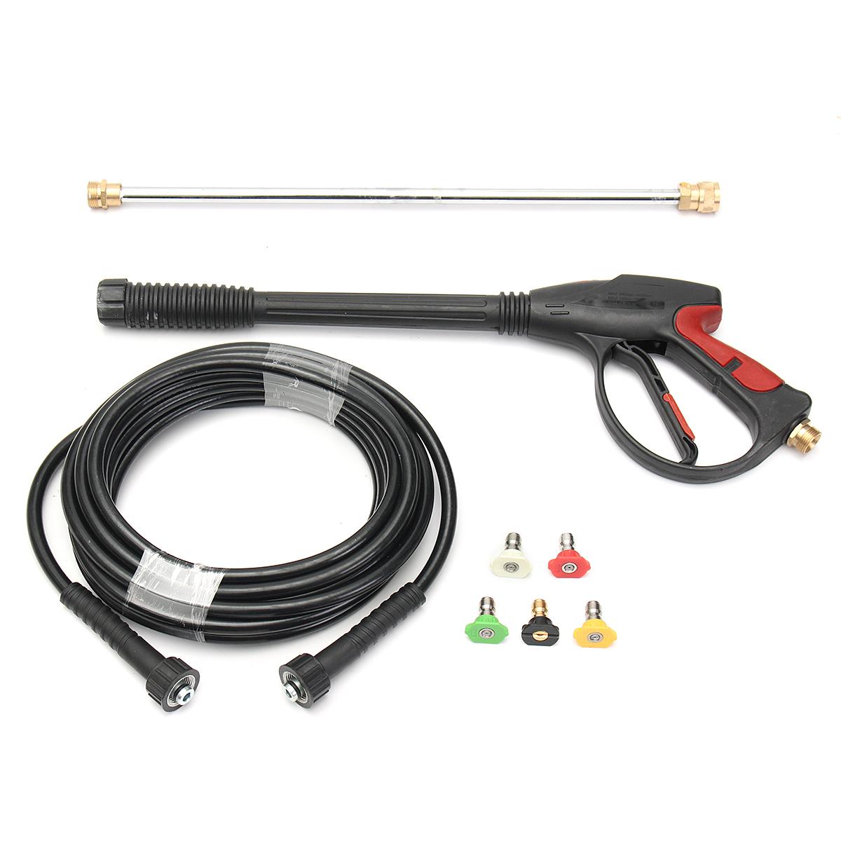 Garden Hose High Pressure Power Spray Gun Nozzle Wand Black Washer Water