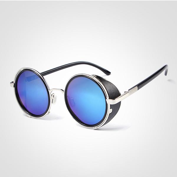 f6b46744894f Men Women Vintage Steam Punk Round UV Protection Sunglasses Summer  Sunscreen Eyeglasses