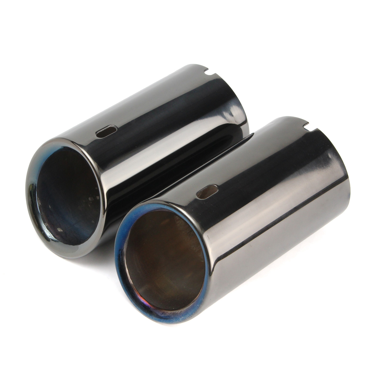 Muffler Exhaust Tail Pipe Tip For 06-10 BMW E90 E92 325 3Series 2XTitanium Black