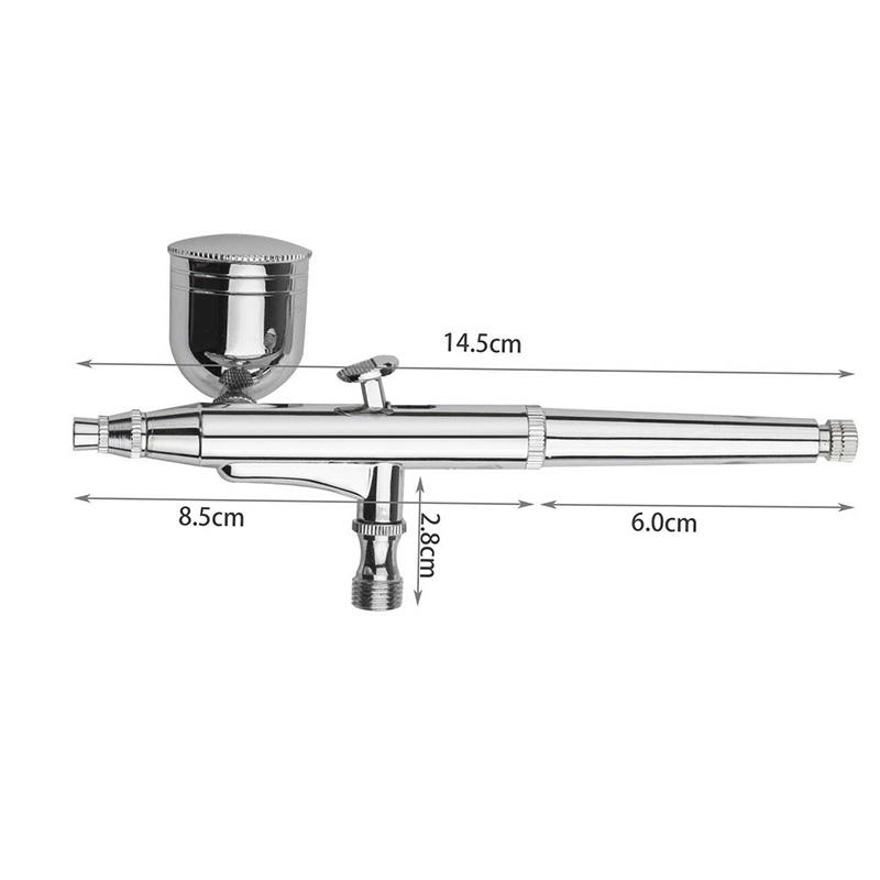 Dual Action Airbrush Set 0.2mm/0.3mm/0.5mm Needle Air Brush Spray Gun Paint Art