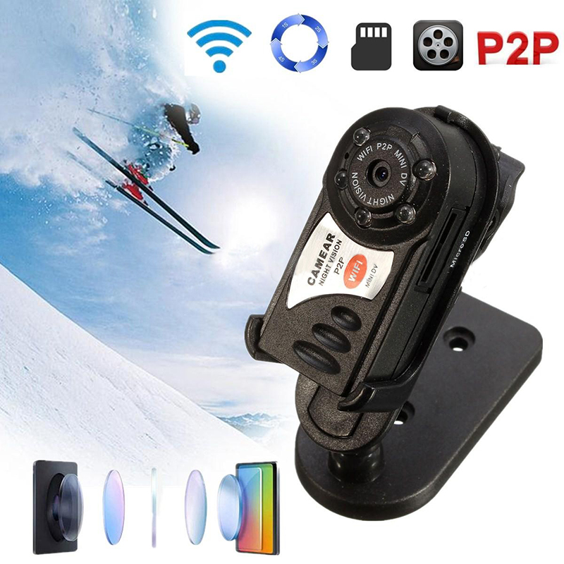 WIFI Mini DV IP Wireless Cam Night Vision Camera Security For Android & IOS