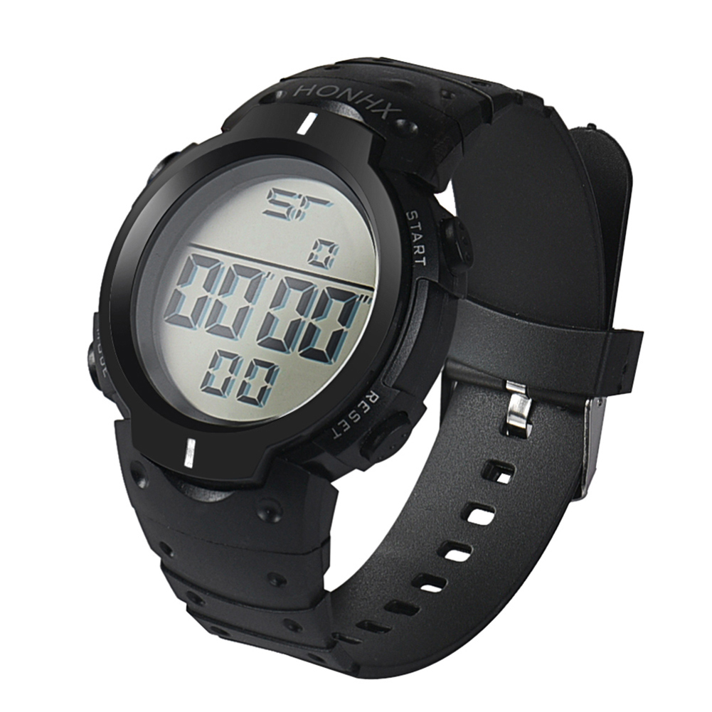 Men's Waterproof Silicone LED Digital Watch Stopwatch Date Rubber Sport Military Wrist Watches