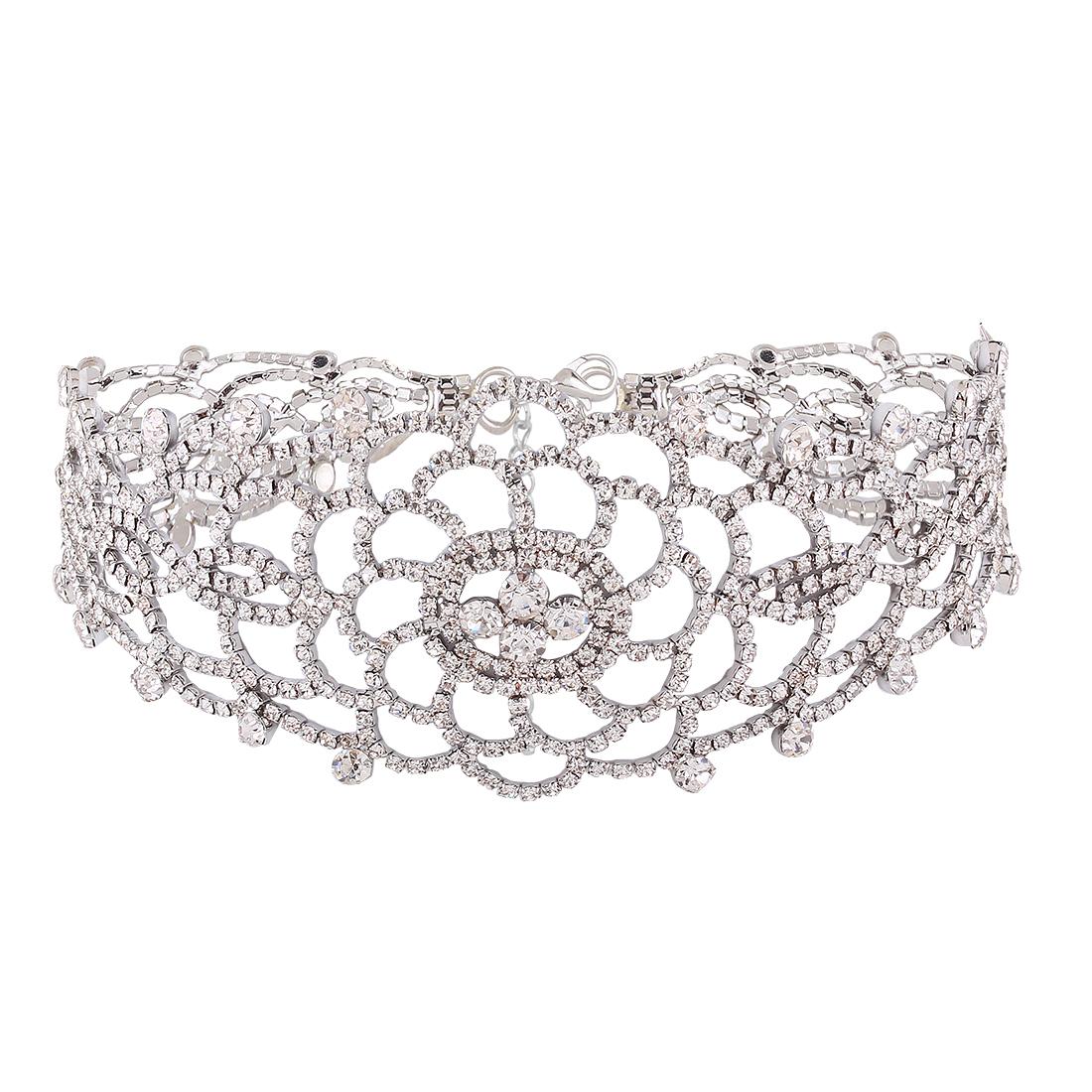 5cab3bb3bf96 Luxury Full Diamond Pendant Chain Necklace Crystal Rhinestone Choker Collar  Women Wedding Jewelry · 1482204368 2146. ...