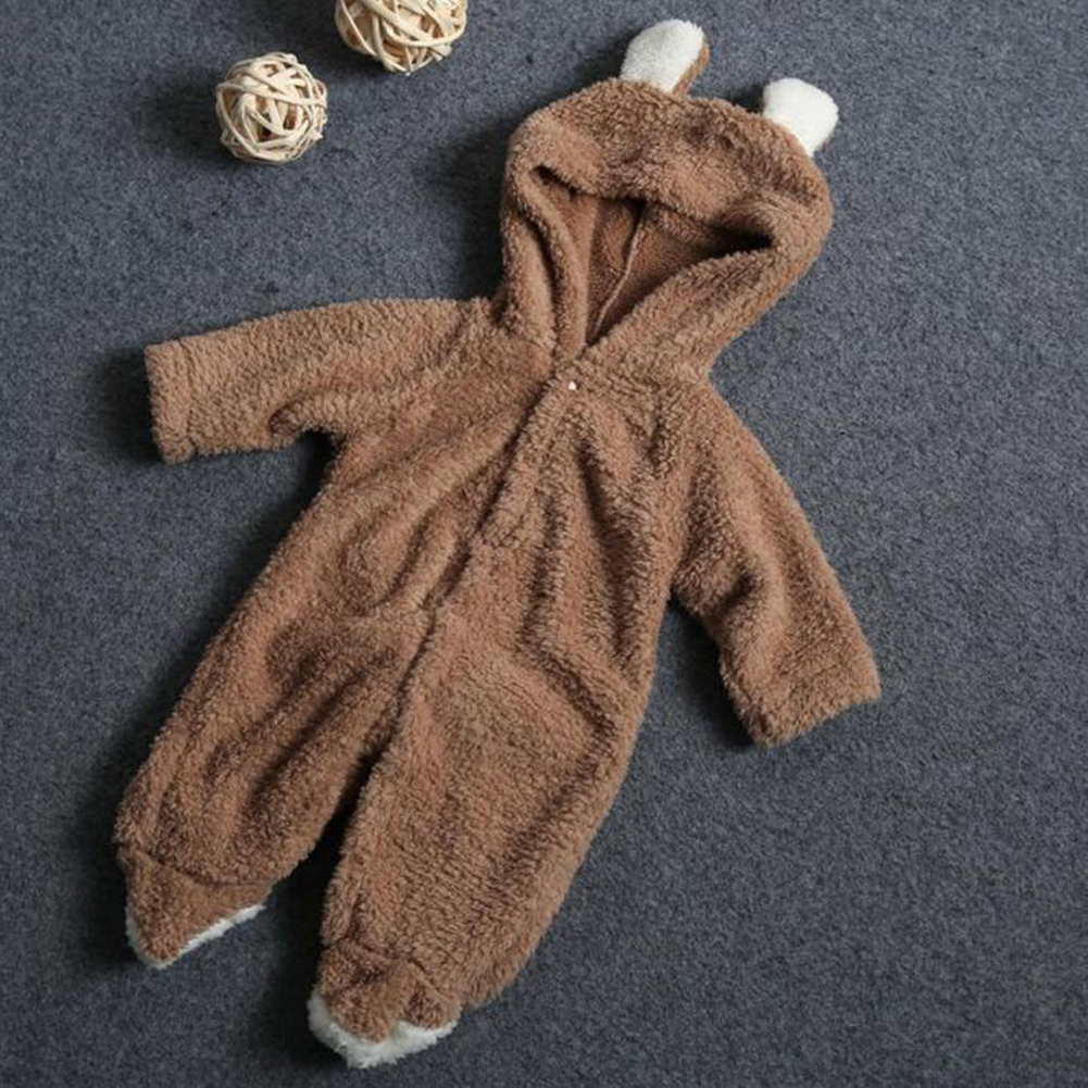 2e162fb80 Baby Infant Newborn Boy Girl Romper Hooded Jumpsuit Bodysuit Outfits ...