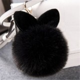 Plush Pendant Lady Bag Accessories Cute Rabbit Ears Keychain Fashion